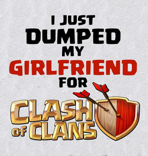 ektarfa.com Men Designs Just Dumped Girlfriend for COC men T-Shirt & Hoodie