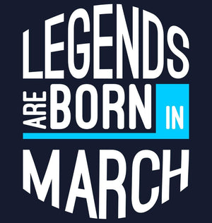 ektarfa.com Men Designs Legend Born March birthday Men t shirts and hoodies