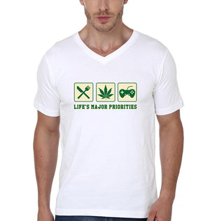 ektarfa.com Men Designs LIFE'S MAJOR PRIORITIES Men T-Shirt & Hoodie