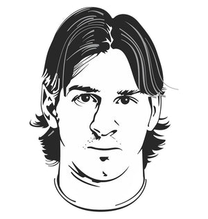ektarfa.com Men Designs Messi Portrait Men T-Shirt & Hoodie