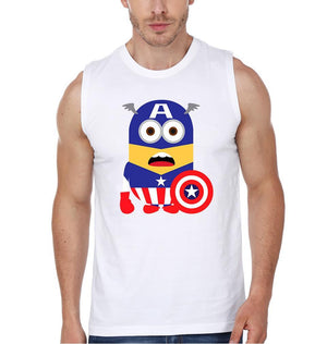 ektarfa.com Men Designs Minion Captain America 2 Funny men T-Shirts & Hoodie