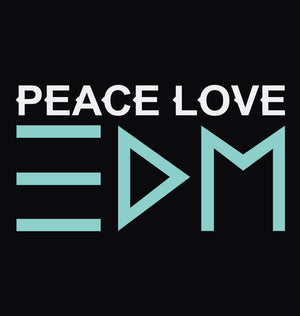 ektarfa.com Men Designs PEACE LOVE EDM Men T-Shirt & Hoodie