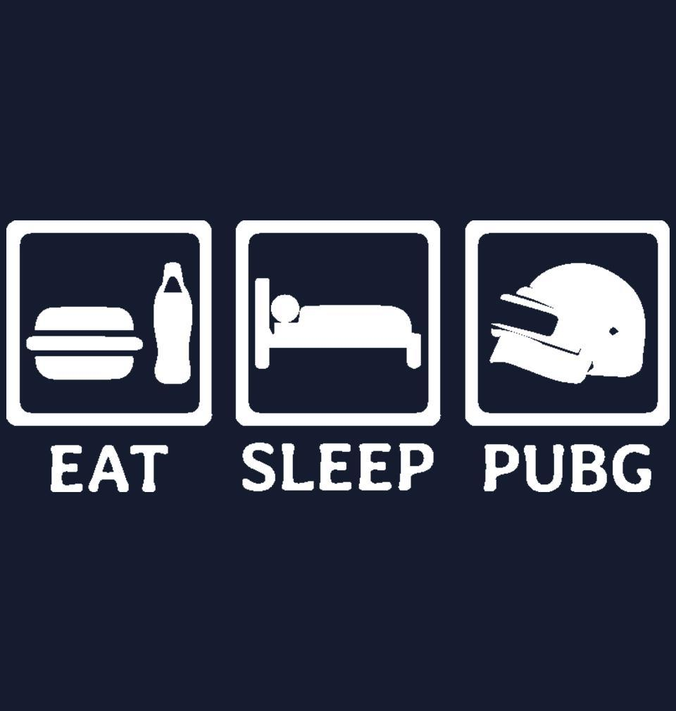 ektarfa.com Men Designs PUBG Eat Sleep Pubg Navy Men T Shirts & Hoodie
