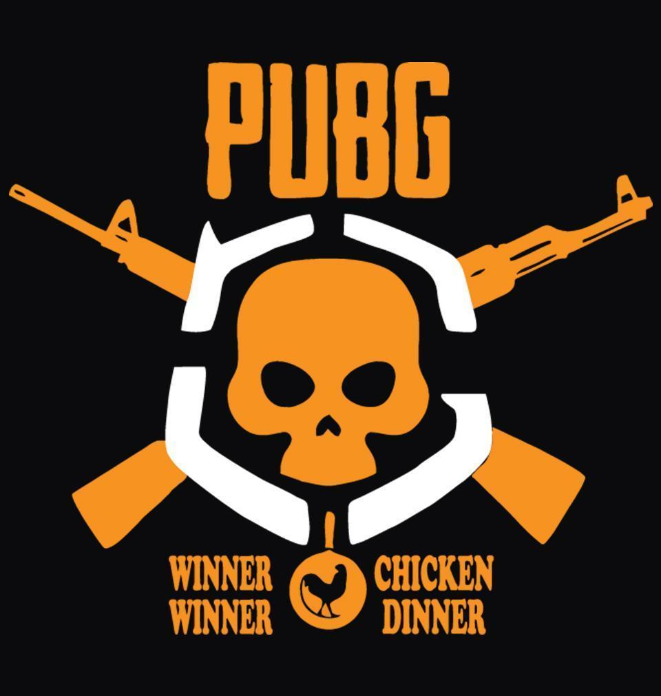 ektarfa.com Men Designs PUBG Winner Winner Chicken Dinner Black Men T Shirts & Hoodie