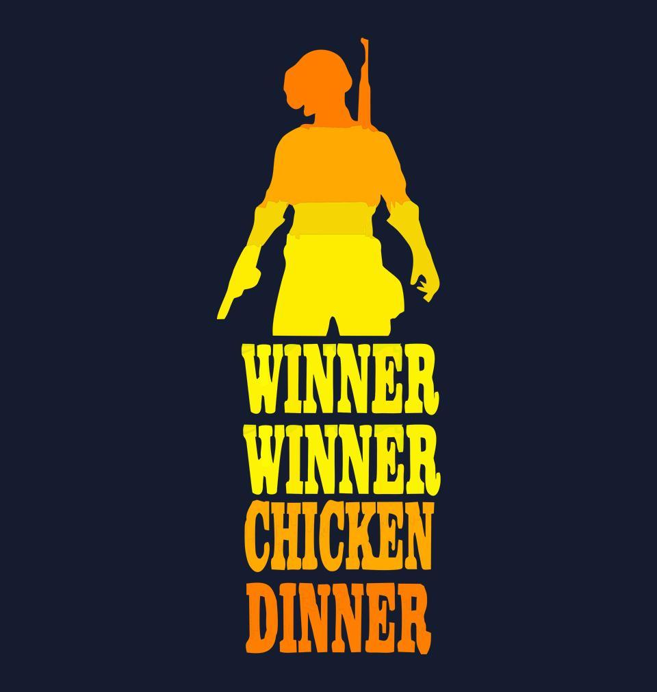 ektarfa.com Men Designs PUBG Winner Winner Chicken Dinner Navy Men T Shirts & Hoodie