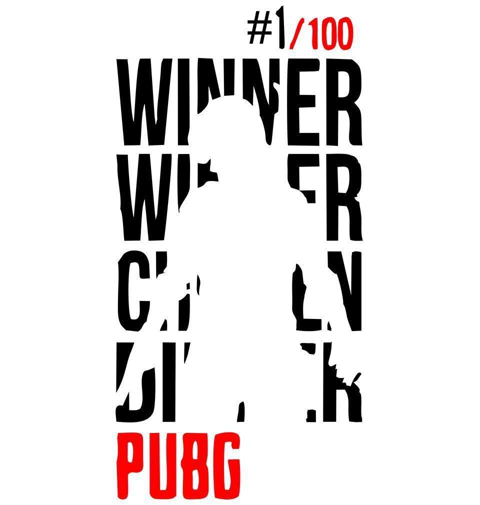 ektarfa.com Men Designs PUBG Winner Winner Chicken Dinner White Men T Shirts & Hoodie