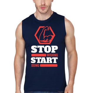 ektarfa.com Men Designs Stop Wishing Start Doing Men T-Shirts & Hoodies