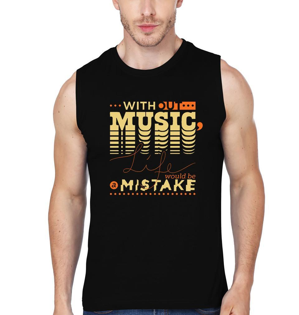 ektarfa.com Men Designs without music life would be a mistake Men T shirts & Hoodie