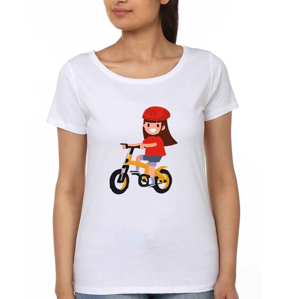 ektarfa.com Mother Daughter T-Shirts Bicycle Mother Daughter T-Shirts