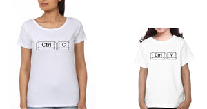 ektarfa.com Mother Daughter T-Shirts Ctrl C & Ctrl V Mother Daughter T-Shirts