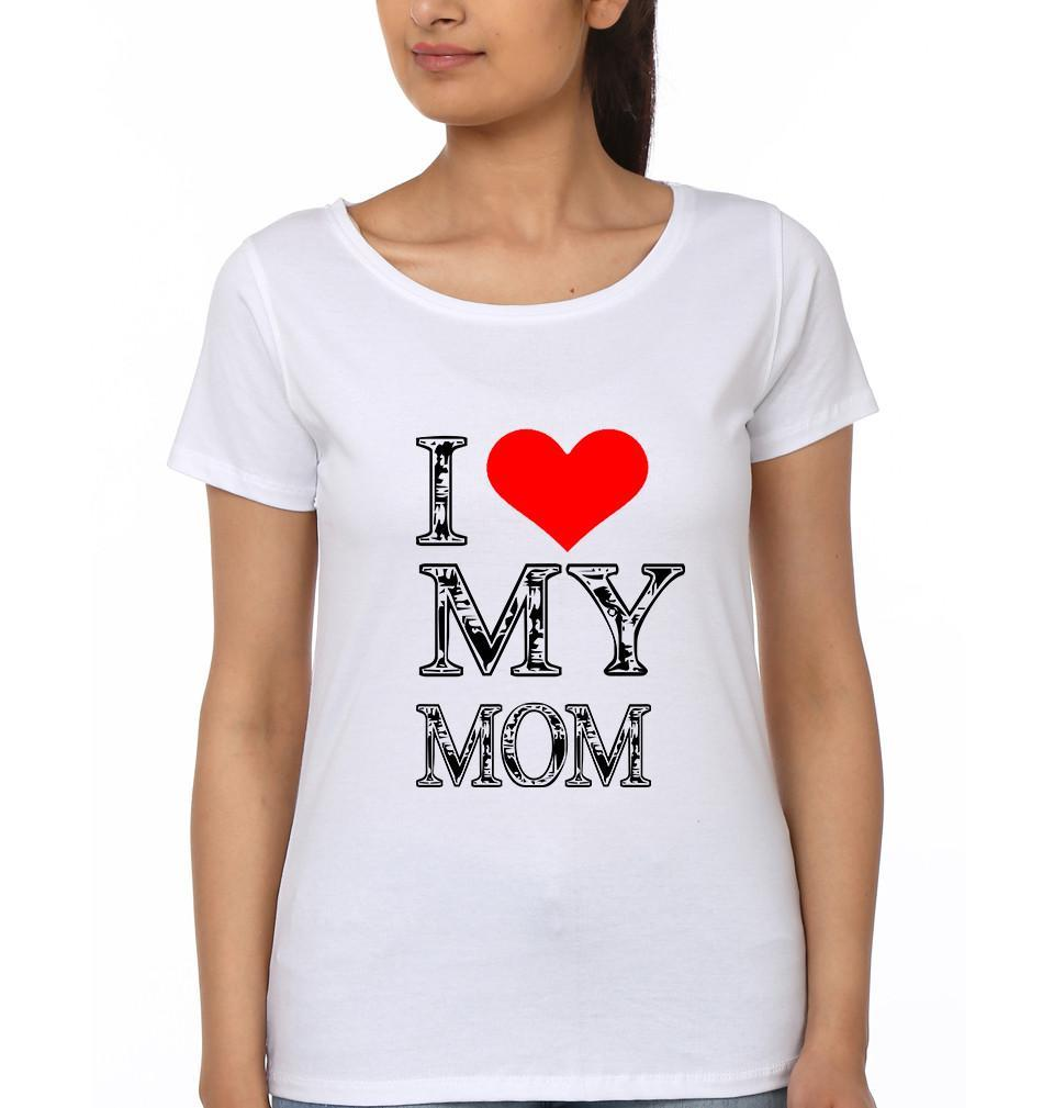 ektarfa.com Mother Daughter T-Shirts I Love My Mom I Love My Kid Mother Daughter T-Shirts
