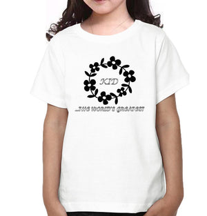 ektarfa.com Mother Daughter T-Shirts Mom The World's Greatest & Kid The World Greatest Mother Daughter T-Shirts
