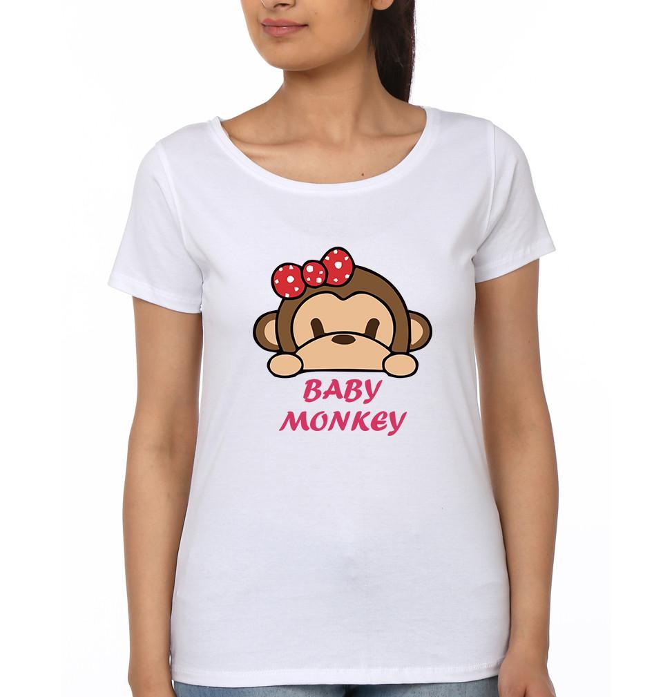 ektarfa.com Mother Daughter T-Shirts Mother Monkey Baby Monkey Mother Daughter T-Shirts