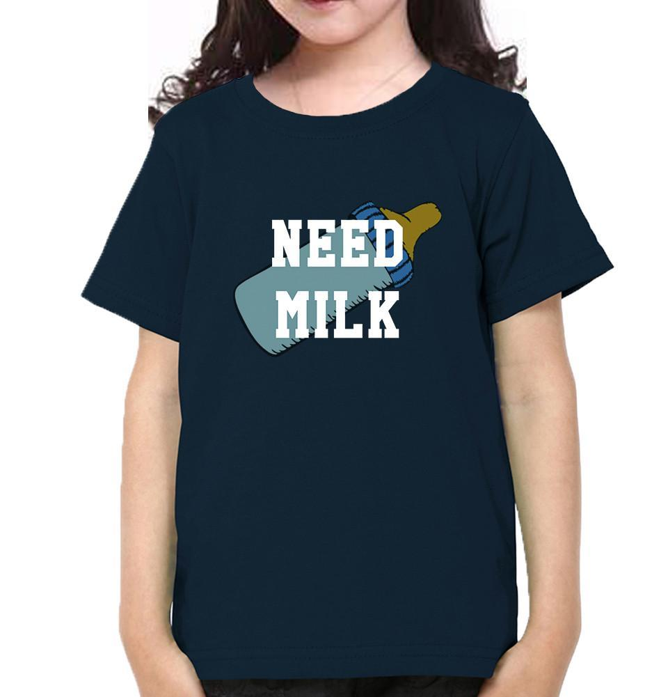ektarfa.com Mother Daughter T-Shirts Need Wine Need Milk Mother Daughter T-Shirts