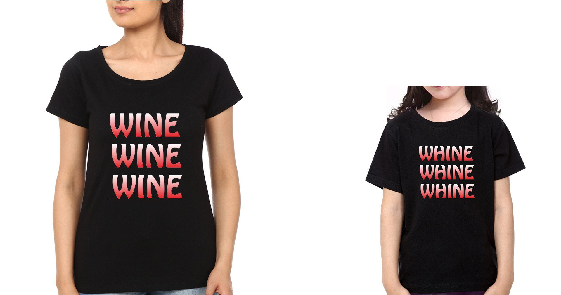 ektarfa.com Mother Daughter T-Shirts Wine Whine Mother Daughter T-Shirts