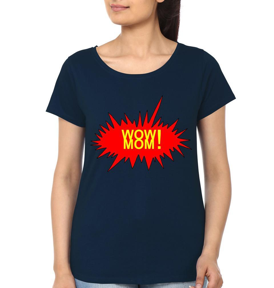 ektarfa.com Mother Daughter T-Shirts Wow Kid Wow Mom Mother Daughter T-Shirts