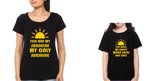 ektarfa.com Mother Daughter T-Shirts You Are My Sunshine My Only Sunshine Mother Daughter T-Shirts