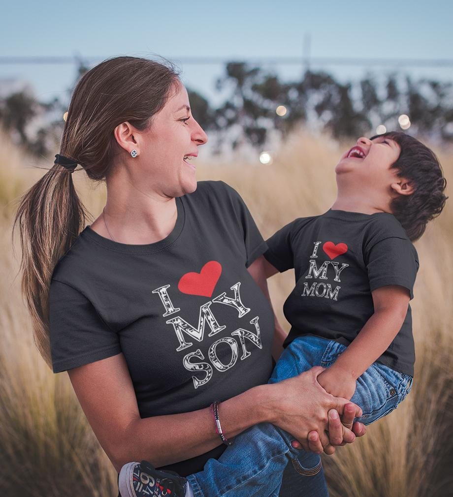 ektarfa.com Mother Son T-shirts I Love My Mom I Love My Son T-shirts