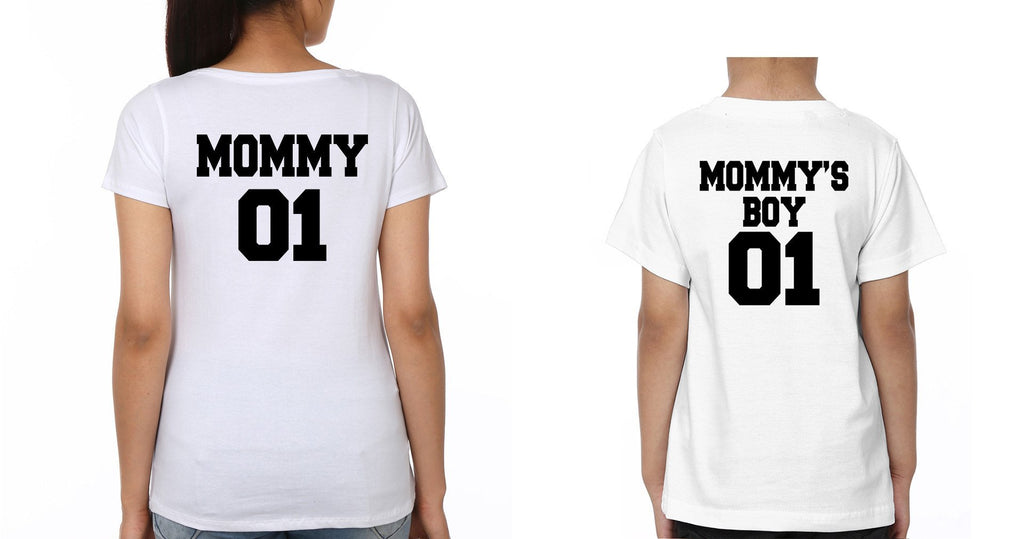 ektarfa.com Mother Son T-shirts Mommy01 mommy's boy01 T-Shirts