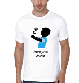 ektarfa.com Mother Son T-shirts Oo Mera Beta Love You Mom T-Shirts