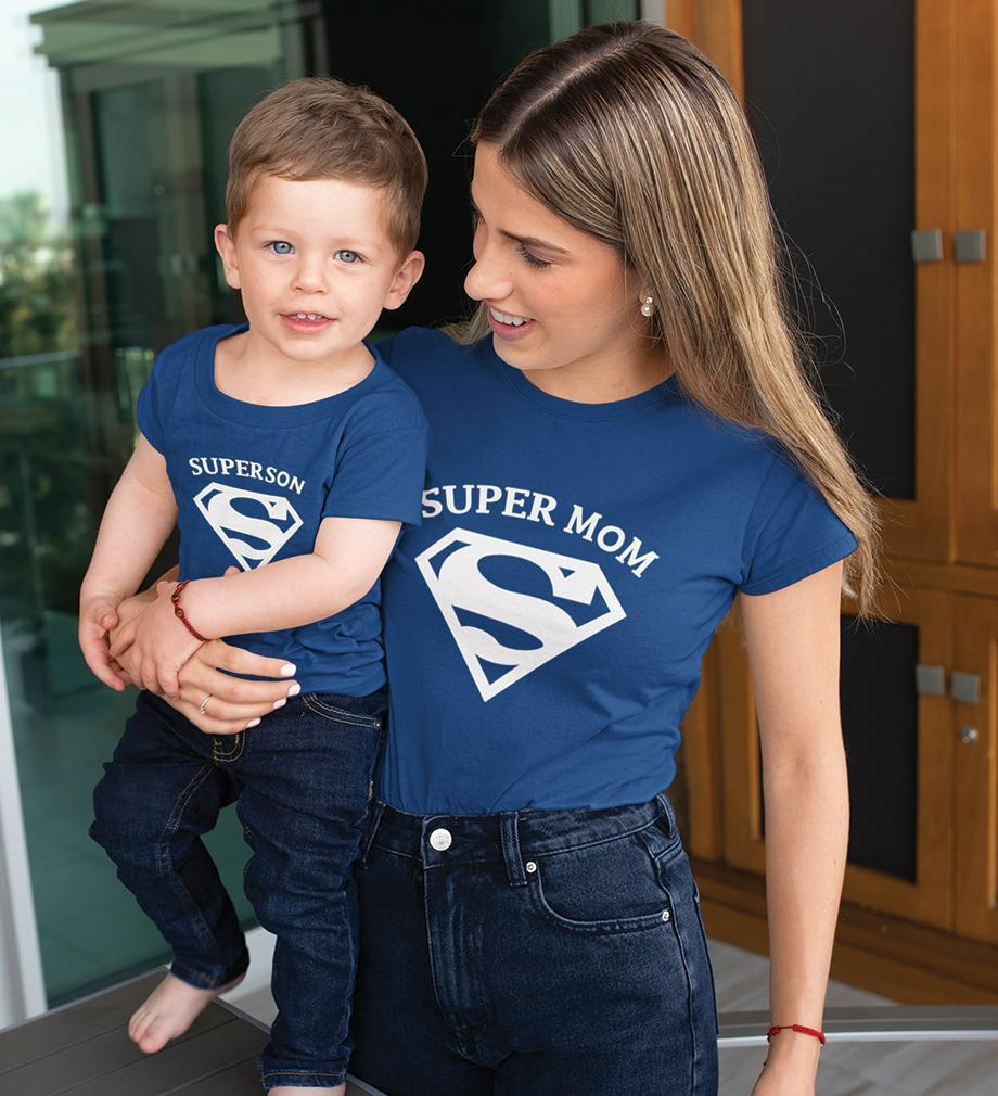ektarfa.com Mother Son T-shirts Super Mom Super Son T-Shirts