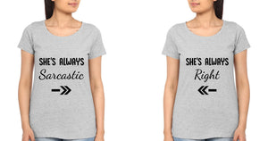 ektarfa.com Sister Sister T-Shirts She is Always Right