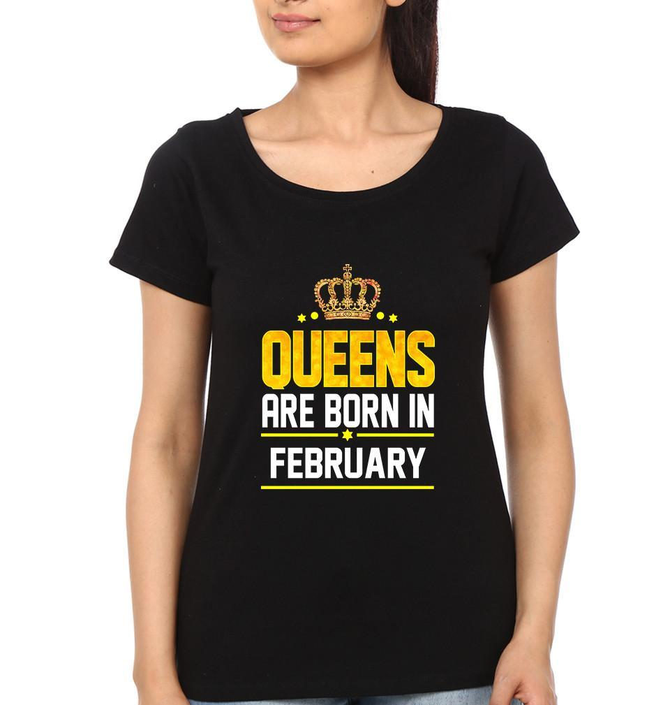 ektarfa.com Women Designs Queen Born February birthday Women t shirts and hoodies