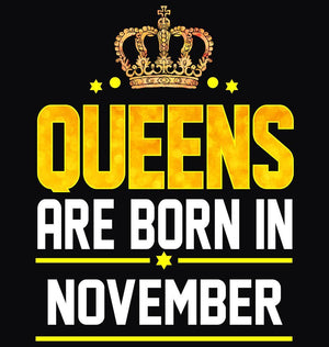 ektarfa.com Women Designs Queen Born November birthday Women t shirts and hoodies