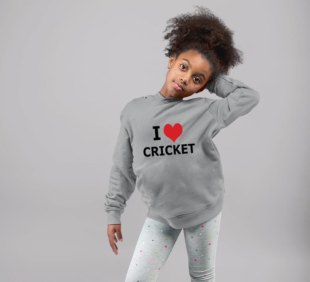 Ektarfa Garments Girls Hoodies Love Cricket Hoodie for Girl