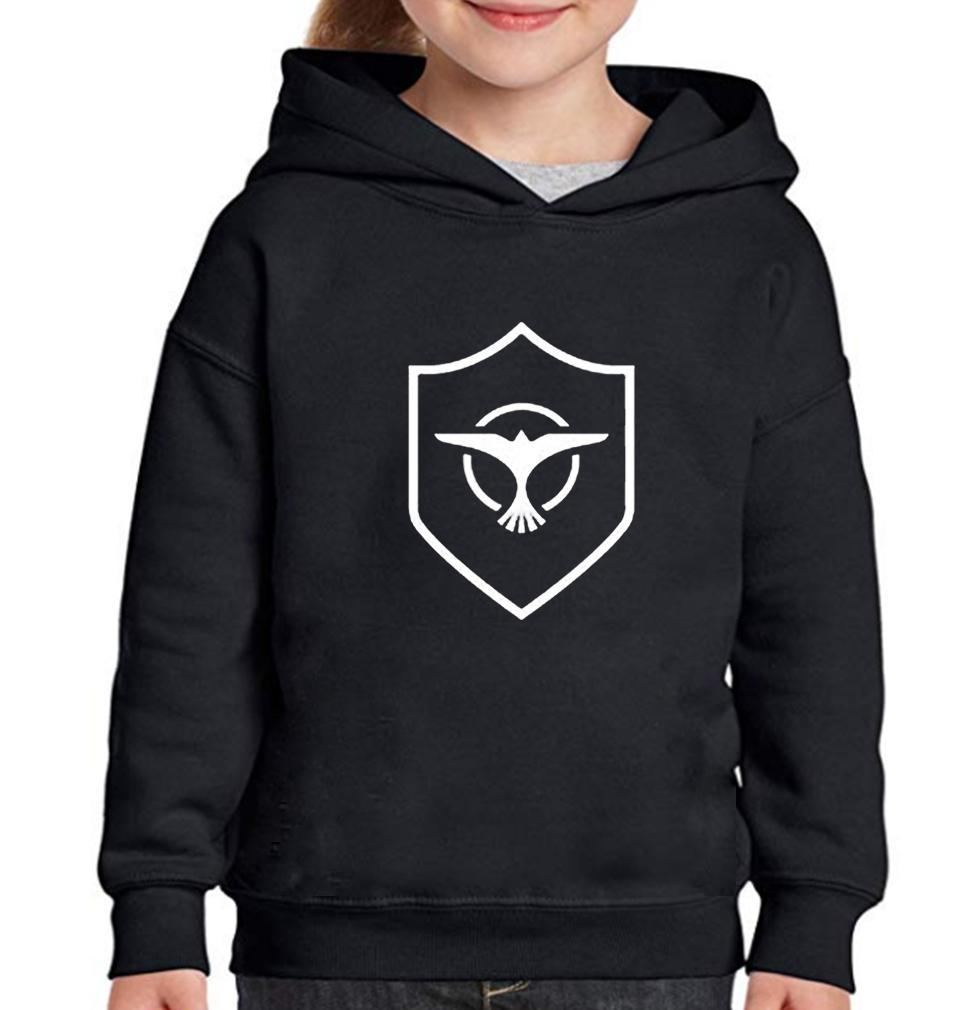 Ektarfa Garments Girls Hoodies Pocket Tiesto Logo Hoodie for Girl