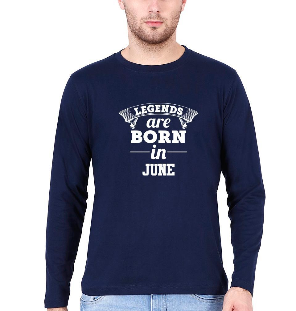 Ektarfa Garments Men Full Sleeves T-Shirts Legends are Born in June Full Sleeves T-Shirt for Men