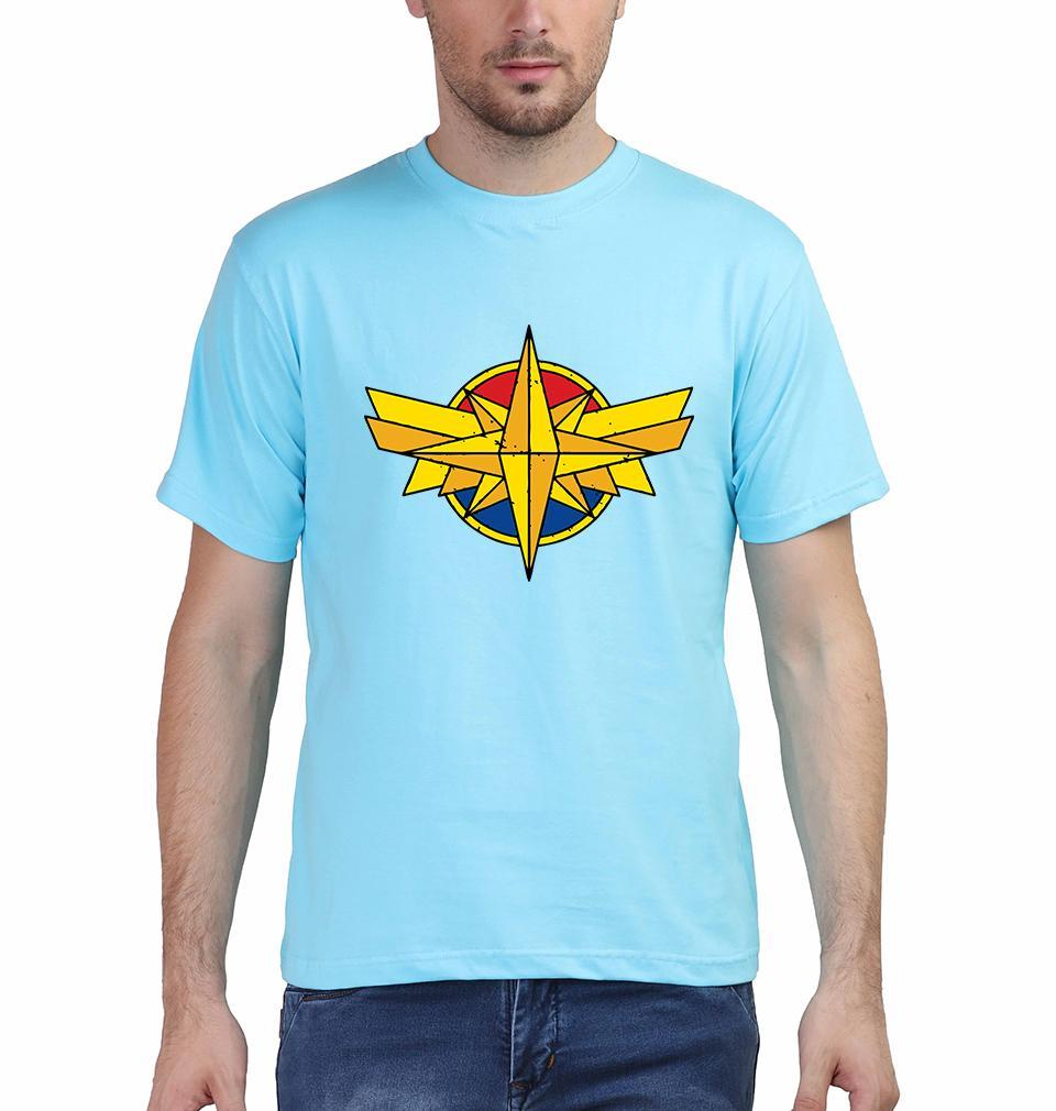 Ektarfa Garments Men Half Sleeves T-Shirts Captain Marvel Logo T-Shirt for Men