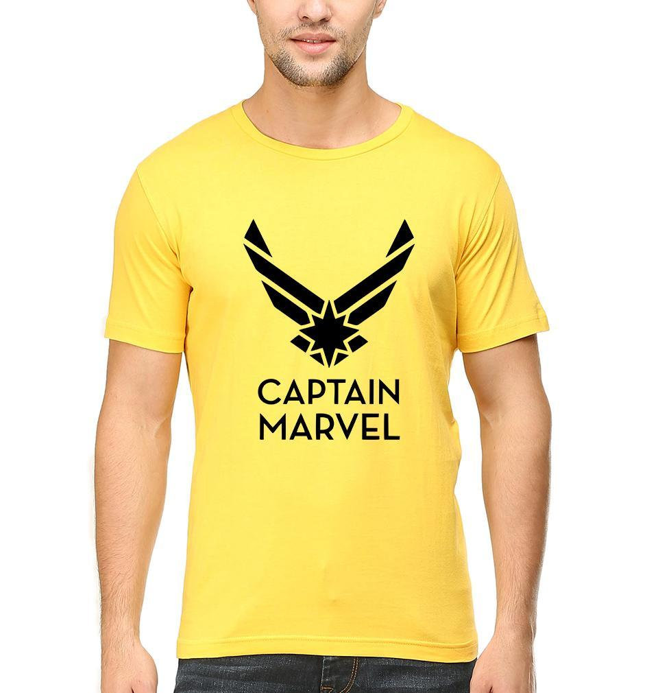 Ektarfa Garments Men Half Sleeves T-Shirts Captain Marvel Superhero T-Shirt for Men