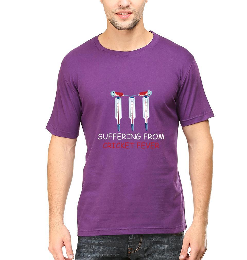 Ektarfa Garments Men Half Sleeves T-Shirts CRICKET Fever T-Shirt for Men