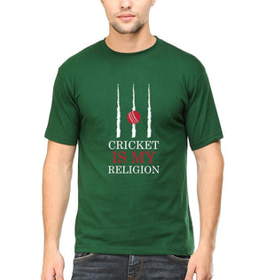 Ektarfa Garments Men Half Sleeves T-Shirts Cricket Is My Religion T-Shirt for Men