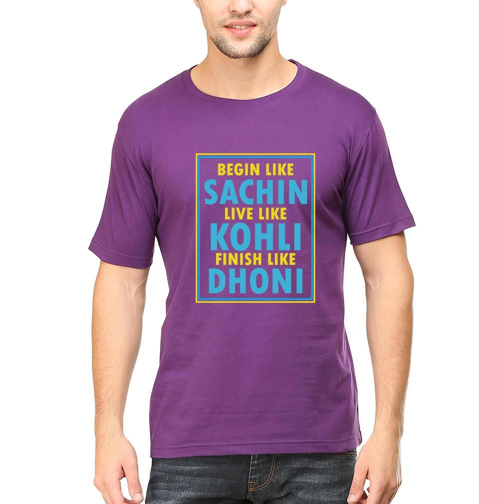 Ektarfa Garments Men Half Sleeves T-Shirts CRICKET Sachin Kohli Dhoni T-Shirt for Men