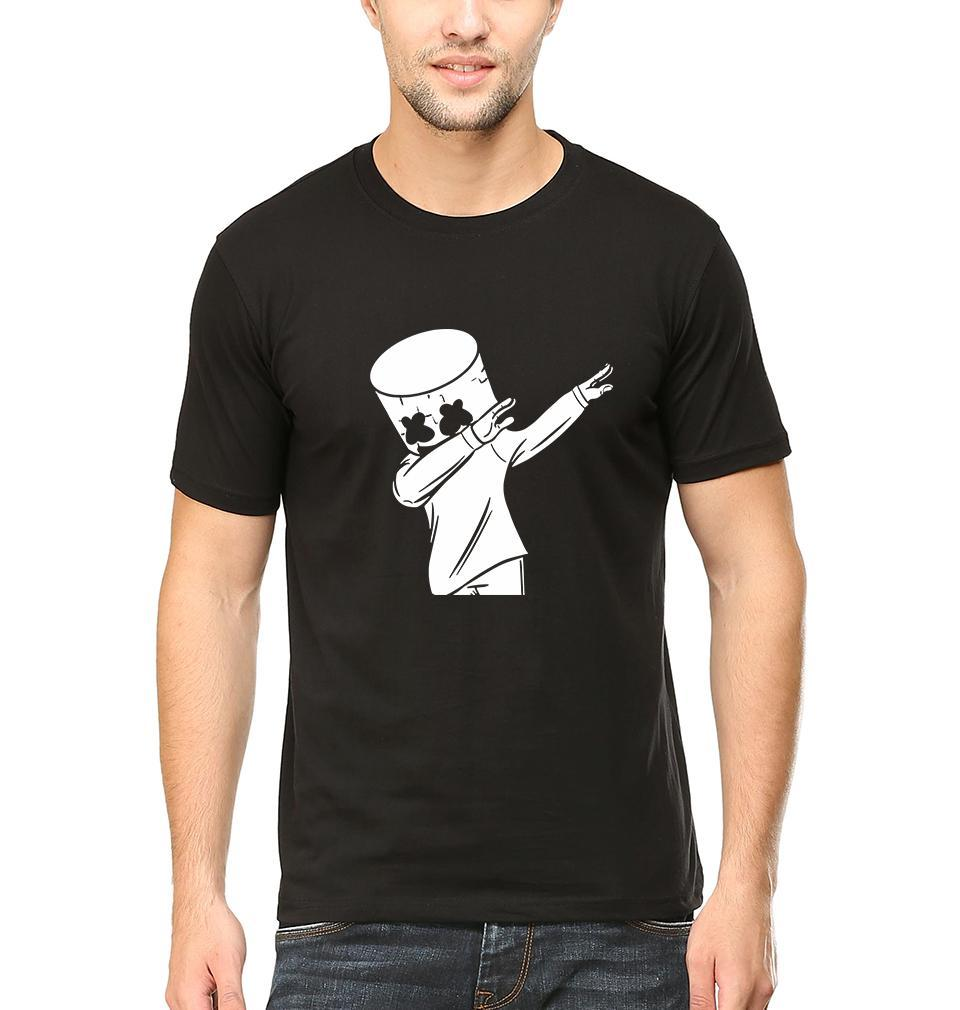 Ektarfa Garments Men Half Sleeves T-Shirts Dab Marshmello T-Shirt for Men
