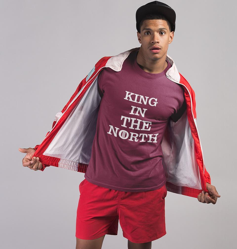 Ektarfa Garments Men Half Sleeves T-Shirts GOT Game Of Thrones King In The North T-Shirt for Men