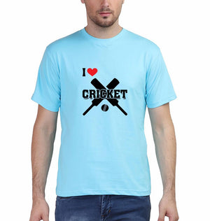 Ektarfa Garments Men Half Sleeves T-Shirts I Love Cricket T-Shirt for Men
