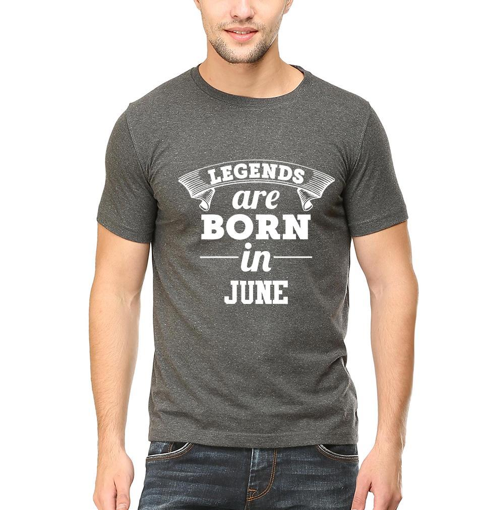 Ektarfa Garments Men Half Sleeves T-Shirts Legends Are Born In June T-Shirt for Men