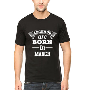 Ektarfa Garments Men Half Sleeves T-Shirts Legends Are Born In March T-Shirt for Men
