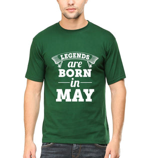 Ektarfa Garments Men Half Sleeves T-Shirts Legends Are Born In May T-Shirt for Men