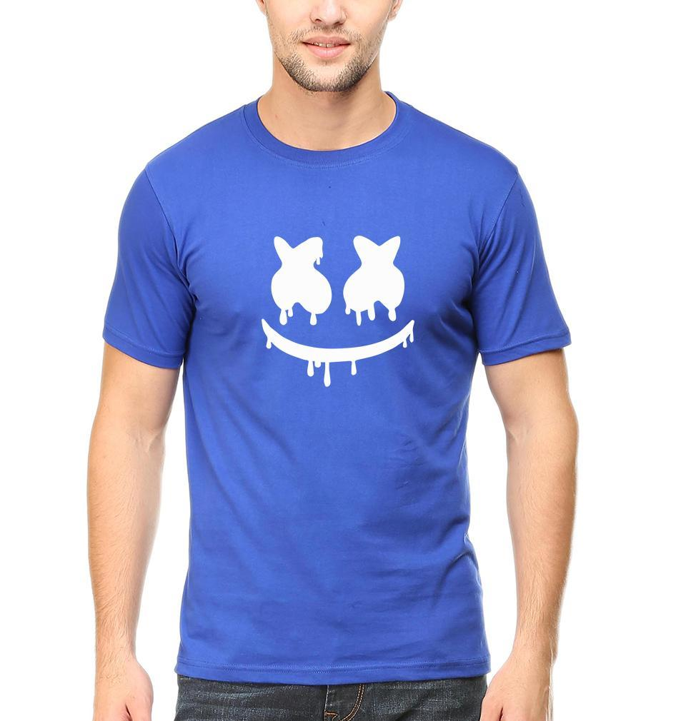 Ektarfa Garments Men Half Sleeves T-Shirts Marshmello T-Shirt for Men