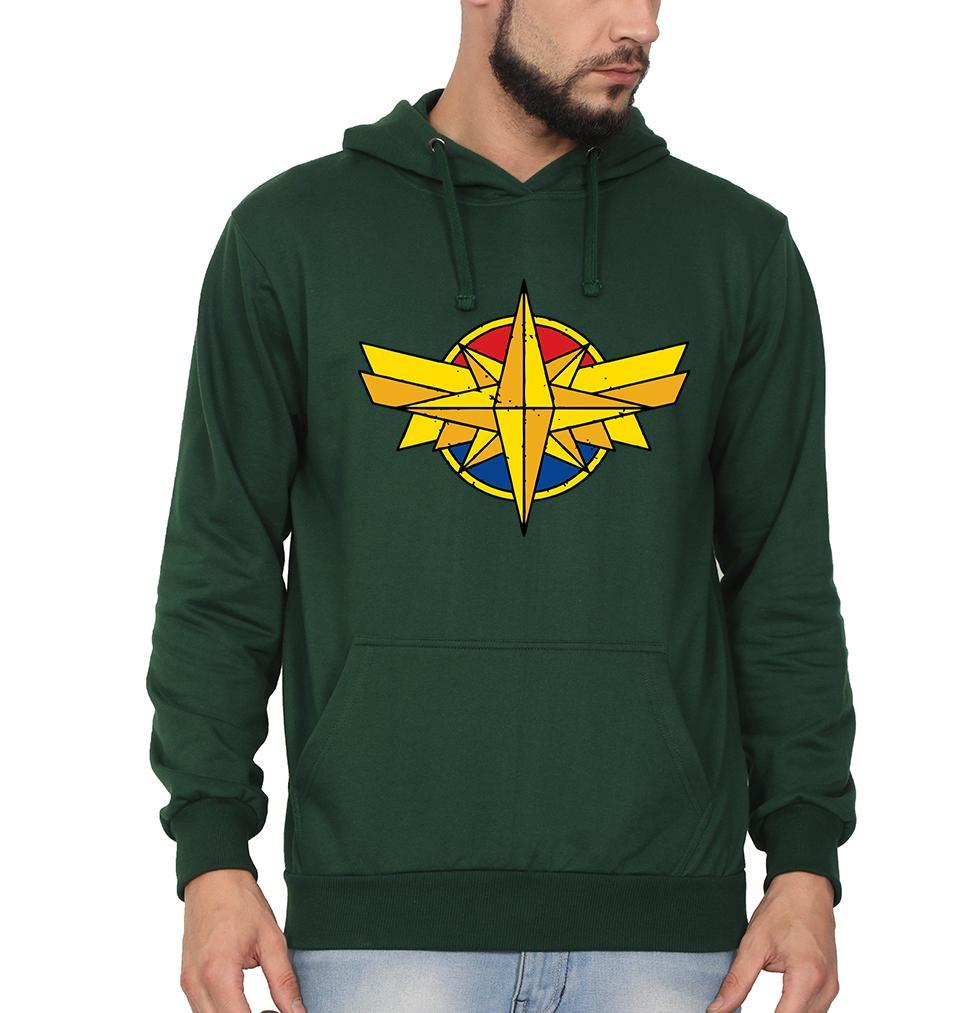 Ektarfa Garments Men Hoodies Captain Marvel Logo Hoodie for Men