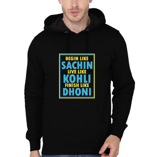 Ektarfa Garments Men Hoodies CRICKET Sachin Kohli Dhoni Hoodie for Men