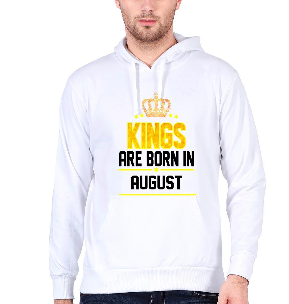 Ektarfa Garments Men Hoodies Kings Are Born In August Hoodie for Men