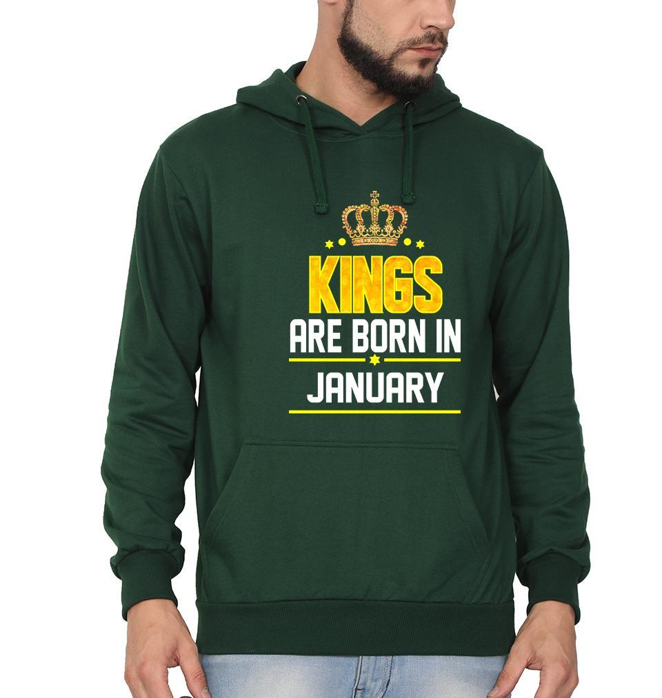 Ektarfa Garments Men Hoodies Kings Are Born In January Hoodie for Men