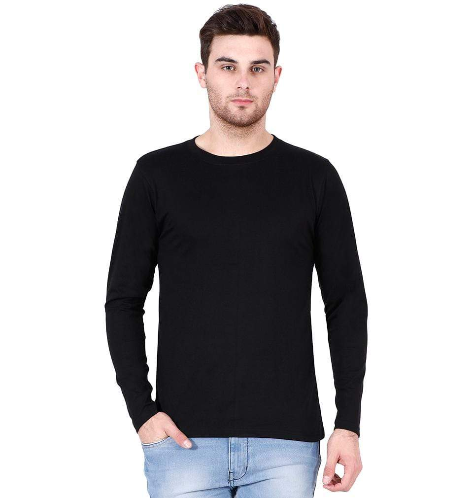 Ektarfa Garments Men Plain T-Shirts & Hoodies Plain Black Full Sleeves T-Shirt
