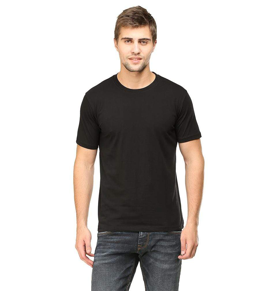 Ektarfa Garments Men Plain T-Shirts & Hoodies Plain Black Half Sleeves T-Shirt