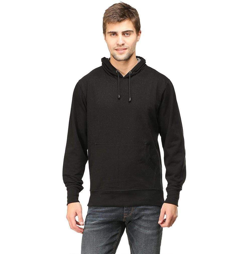 Ektarfa Garments Men Plain T-Shirts & Hoodies Plain Black Hoodie Sweatshirt